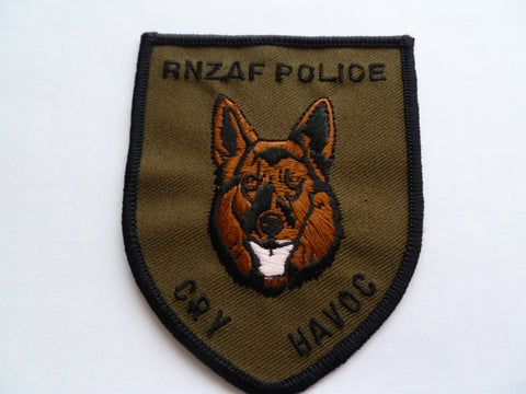 NEW ZEALAND RNZAF dog section  patch subdued