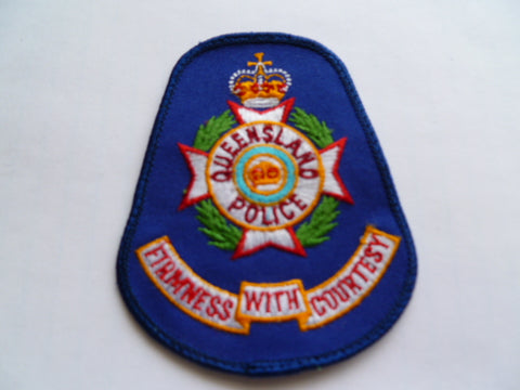 AUSTRALIA queensland police patch older exc shirt firm