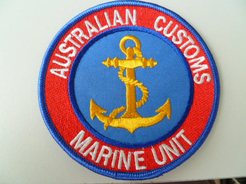 AUSTRALIA customs patch marine group lt bblue