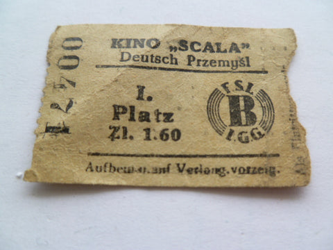 GERMAN WWII picture ticket of some sort