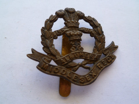 middlesex regt  slider all brass exc x