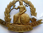 norfolk regt cap badge ww1 economy brass