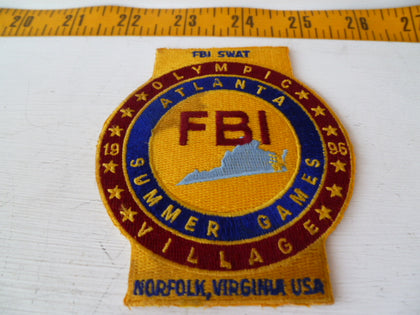 FBI  olympic 1996 atlanta  patch coloured couple stains