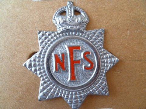 BRITAIN national fire serice cap badge