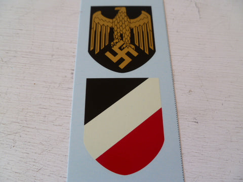 GERMAN WWII helmet decals [ pair] navy