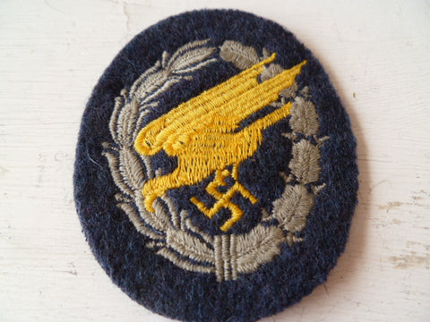 GERMAN WWII paratrooper qualification badge heavy cloth