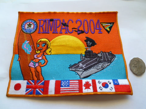 USA rimpac 2004 cruise big patch 8x6in