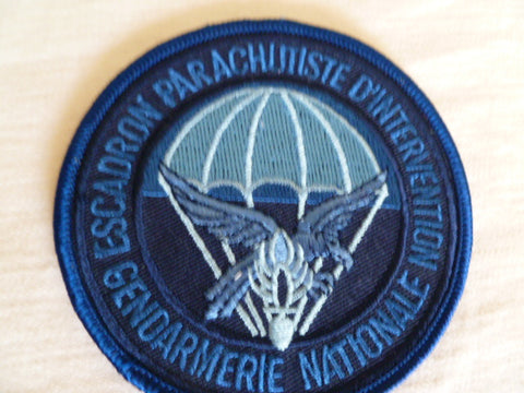 FRANCE nationale parachusists  patch blue subdued
