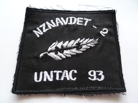 UN new zealand untac  patch for somalia  exc