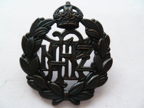 NEW ZEALAND RNZAF cap badge WWII k/c officers bronze