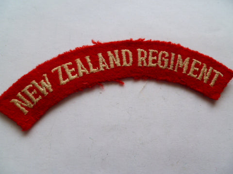 NEW ZEALAND regiment used but good