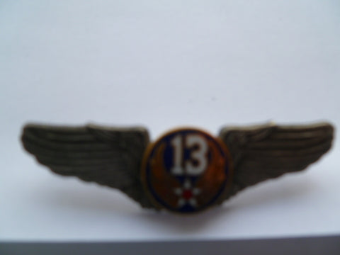 usa ww2 style pilot wing 13th air force................pn 3352