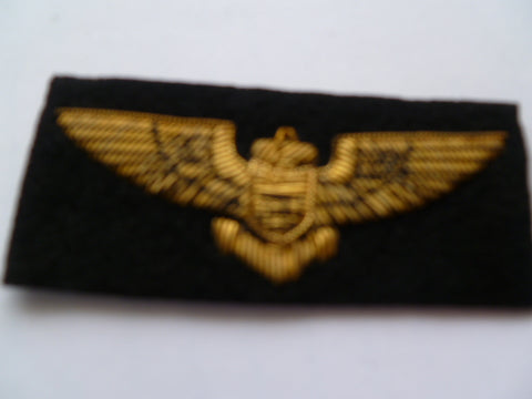 USA navy pilots wing bullion exc ..............pn 3360