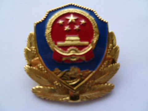 CHINA police cap badge
