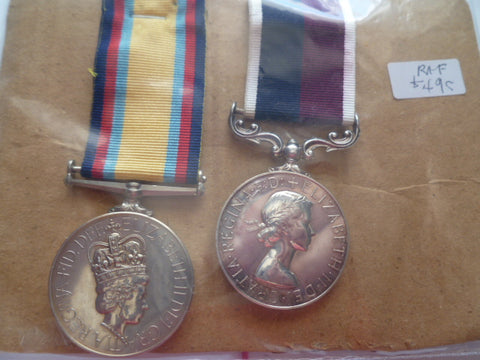 brit GULF RAF  pair gulf war medal no bar and raf lsgc medal