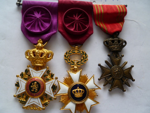 BELGIUM order of leopold high award order crown& c de g