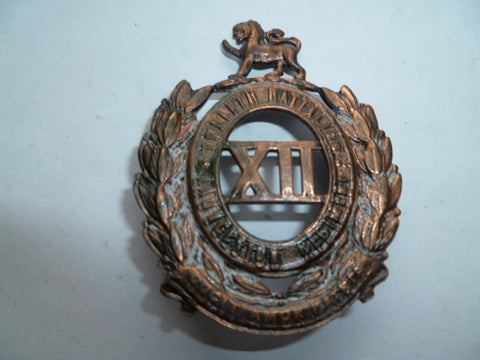 australia 30/42 cap badge 12th inf regt tasmania 55mm