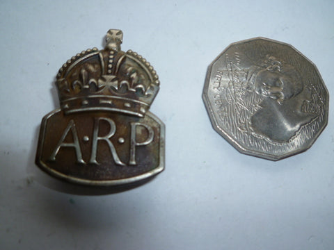brit ww2 ARP badge silver h/m and m/m
