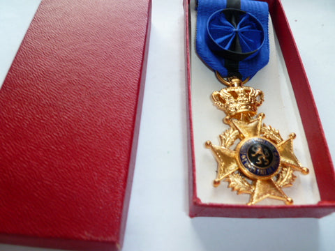 belgium boxed order of leopold officer gold