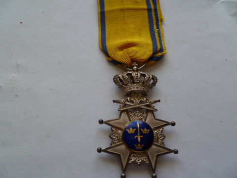 sweden order of the sword 5th class ex cond