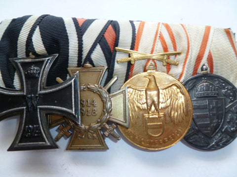 austro/hungarian ww1 group of 4 medals ek2, hon x,austro/hun