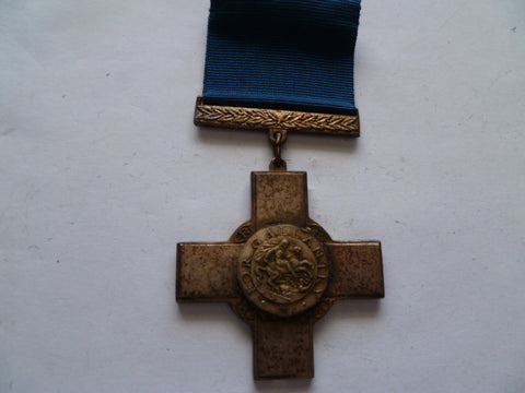 brit george cross nice older replica looks silver plated