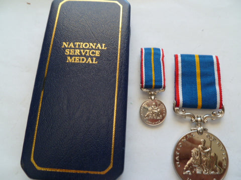 brit national service medal in case of issue with mini
