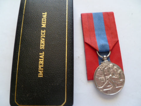 brit imp service medal geo 6th cased