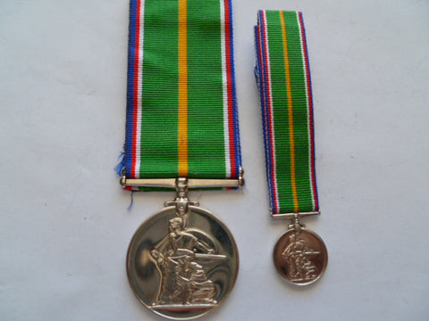 brit service medals set  full size and mini