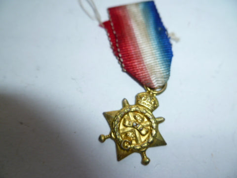 brit 1914 star older mini medal