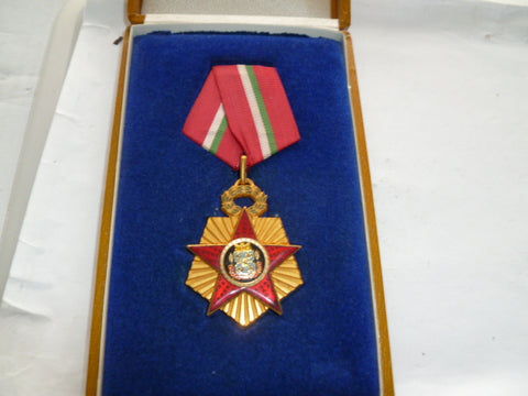 bulgaria order of 100 years something?? nice cased medal