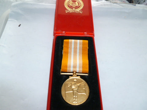singapore armed forces medal in plastic issue case
