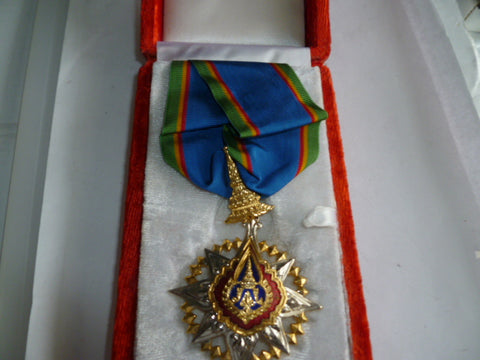 thailand order of the crown cased neck award