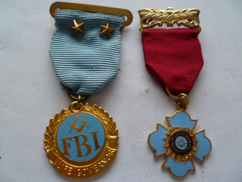 masonic  australia 2 medals 1 numbered