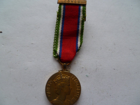 brit / seira leone bar congo gsm very scarce mini medal