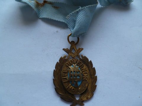 masonic life govenor #1742 nsw stg sil neck ribbon tatty