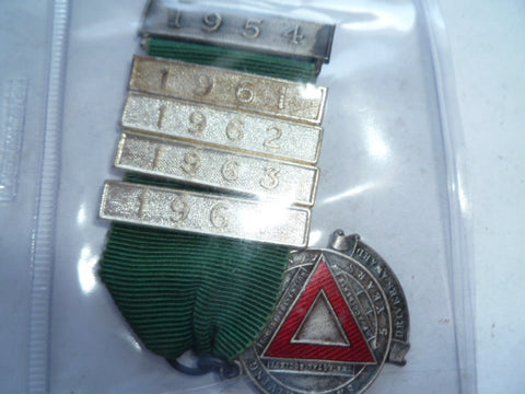 brit 5 year safe driving medal 4 extra bars