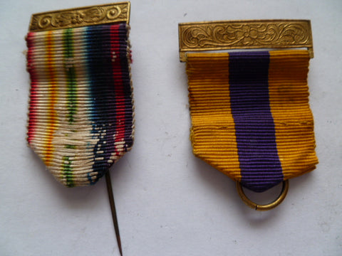 masonic ribbons 2 used as mounted