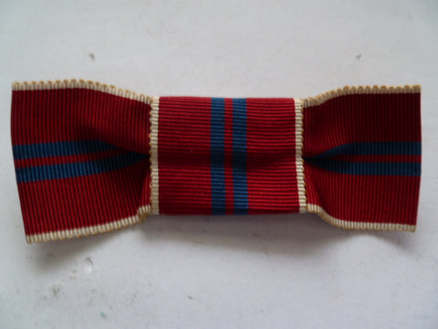 brit 1953 coronation medal ribbon bow on clip  for female