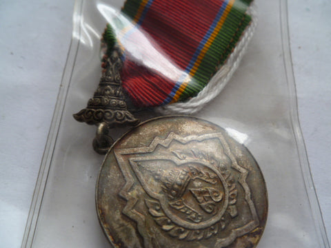 thailand order of the crown silver medal wrong ribbon