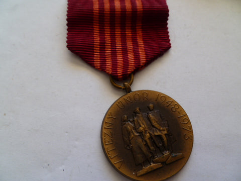 Czechoslovakia medal 1978 for anv revolution