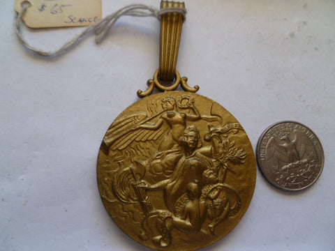 panama 50 year 1903-53 canal opening large medal