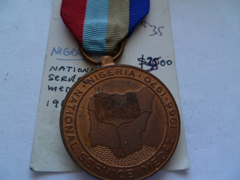nigeria national sevice  medal 1966-70