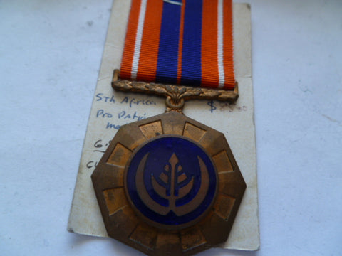 south africa pro patria medal un numbered