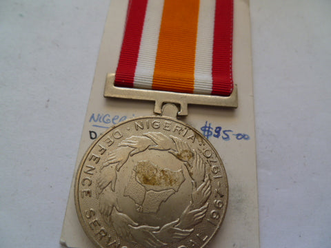 nigeria defence sevice  medal 1967-70