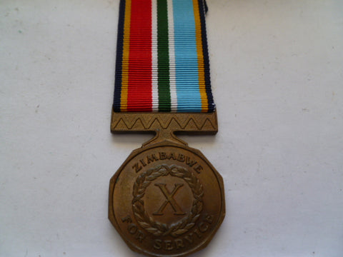zimbabwe 10 year long service medal