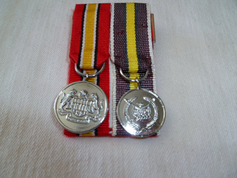 malaysia army pair medals mounted for wear