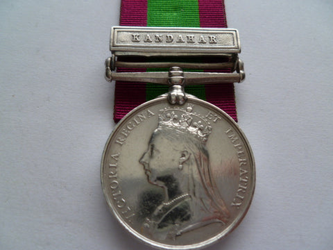 BRITISH AFGHANISTAN MEDAL  bar khandahar 17th bengal cav