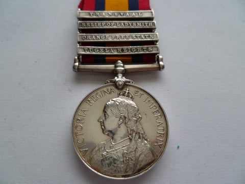 BRITISH QSA MEDAL 4 bars 4th mountain batt rga