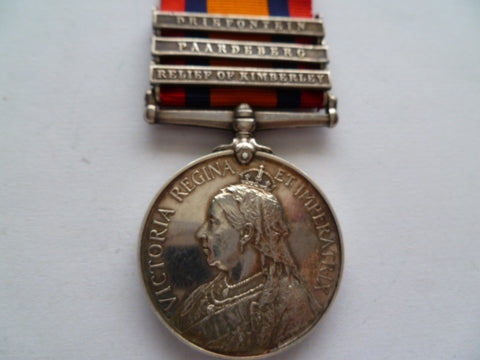 BRITISH QSA MEDAL 3 bars 1st essex regt